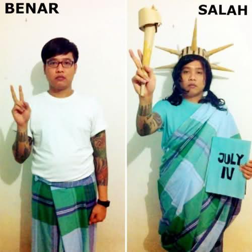 tutorial pakai sarung kocak © bersodagembira.blogspot.co.id