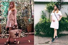 7 Gaya pakaian Cherly eks Cherybelle saat hamil, tetap fashionable