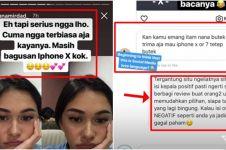 Nana Mirdad dicibir gara-gara kamera iPhone X, balasannya menohok