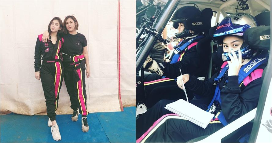 10 Momen Vanesha Prescilla dan Sissy Prescillia saat balapan mobil