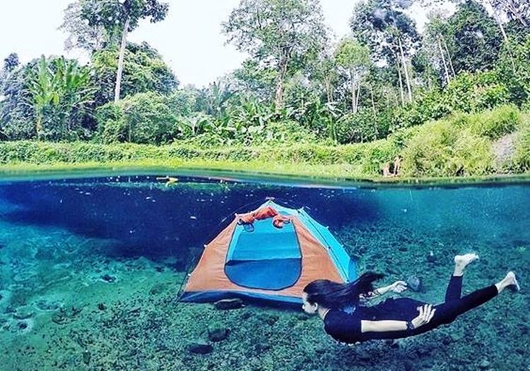 Nih spot foto underwater yang keren di Lampung, tempatnya kece abis