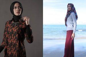 10 Potret Ana Lestiana, hijabers yang viral karena makan lampu neon