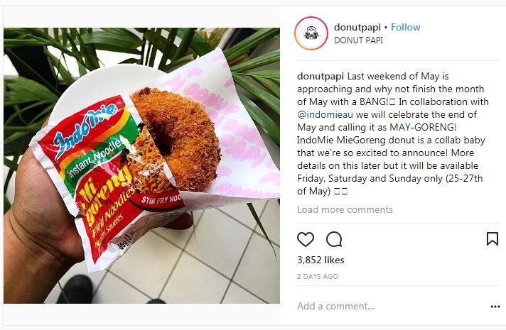 indomie donat goreng © 2018 Instagram