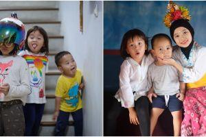 Jarak usia berdekatan, ini 8 momen kompak tiga anak Zaskia Adya Mecca