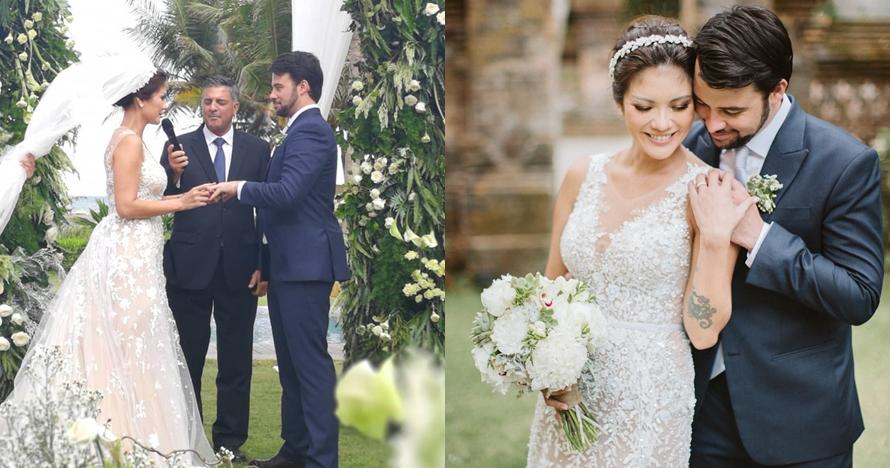 Sudah sah, ini 10 momen haru pernikahan Aline Adita dan suami bulenya