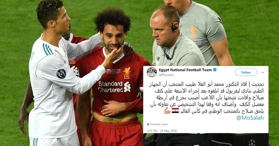 Ini pernyataan resmi Mesir tentang cedera Salah, di luar dugaan!