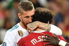 Ini kata Sergio Ramos soal bantingannya kepada Salah