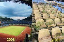 7 Potret miris Stadion Utama Palaran, tak terawat sejak PON 2008