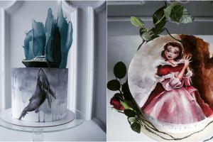 10 Kue ini dijadikan media lukis yang indah, bikin nggak tega makan