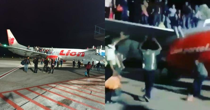 Detik-detik penumpang lompat ke luar pesawat gara-gara candaan ada bom