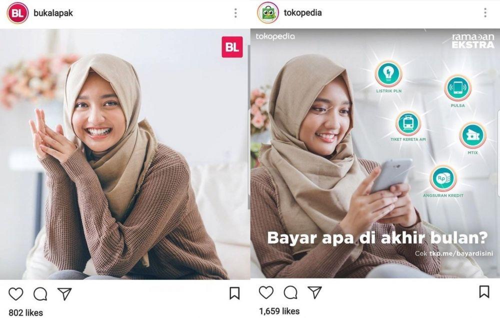 gadis hijab selebgram iklan © 2018 brilio.net