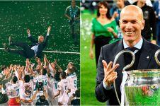 10 Momen pesta kemenangan terakhir Zinedine Zidane bersama Real Madrid
