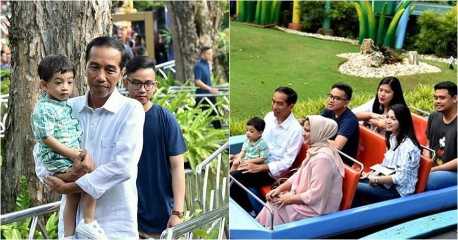 10 Momen Jokowi Ngabuburit bersama keluarga, sederhana banget