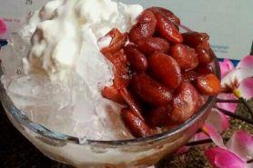 Resep mudah bikin es kacang merah, takjil manis khas kota Manado