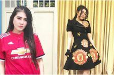10 Potret ini buktikan kalau Via Vallen fans berat Manchester United