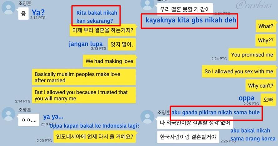 7 Chat cewek Indonesia yang tak jadi dinikahi oppa Korea ini ngeselin