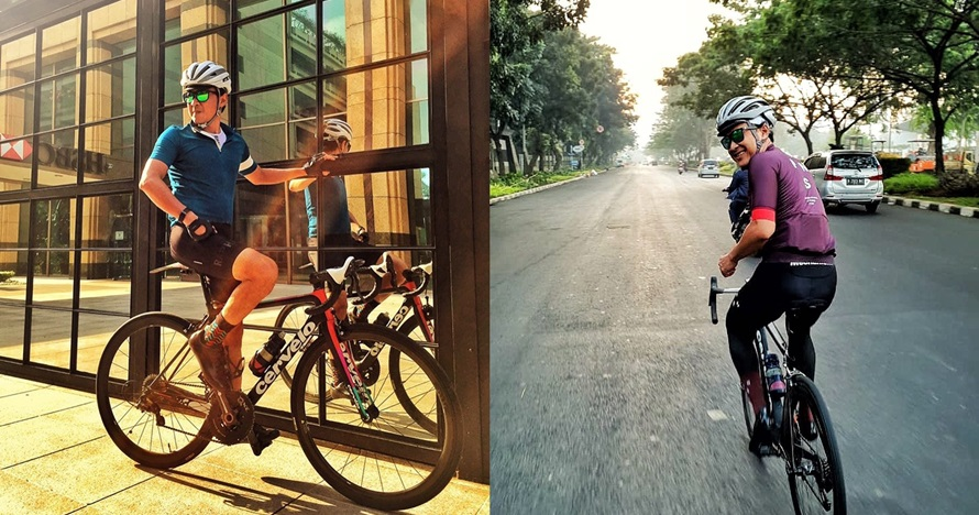 10 Potret Agus Kuncoro, pesinetron yang gila bersepeda