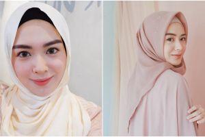 10 Ide outfit Lebaran simpel nan elegan ala Ayana Moon hijaber Korea