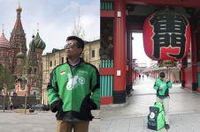 9 Potret sopir ojek online liburan ke luar negeri ini bikin salut pol