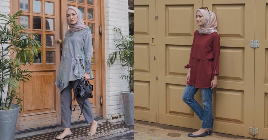 Simpel dan elegan, ini 10 ide outfit bukber ala Mega Iskanti