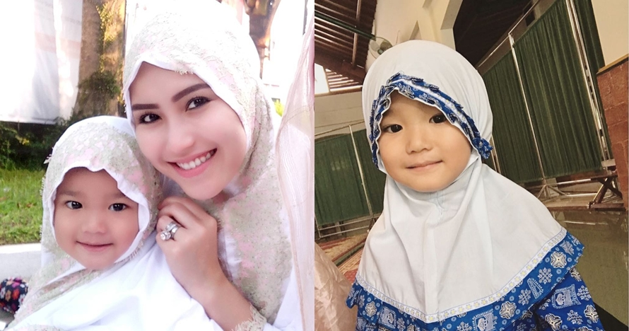 7 Gaya menggemaskan Bilqis putri Ayu Ting Ting saat pakai hijab