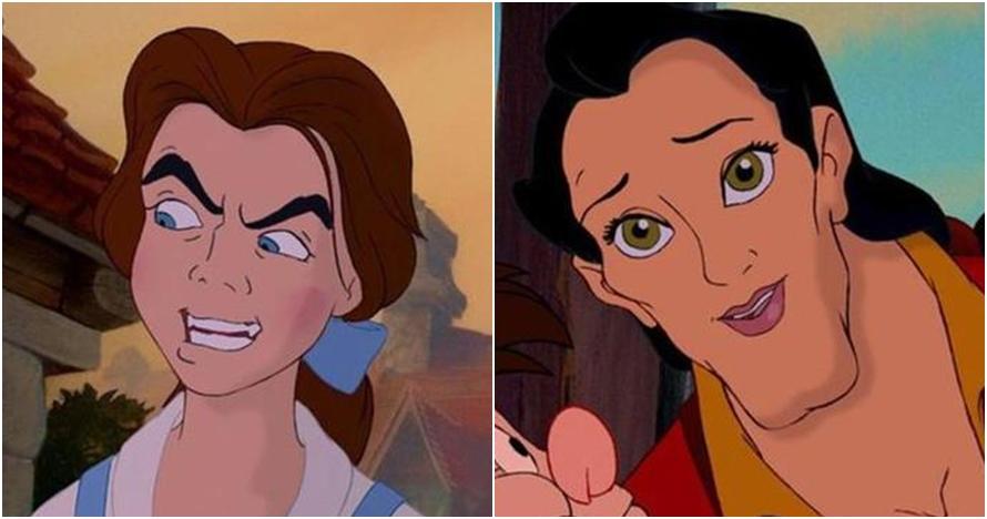 Begini jadinya kalau karakter di 9 film Disney ditukar wajahnya, unik!