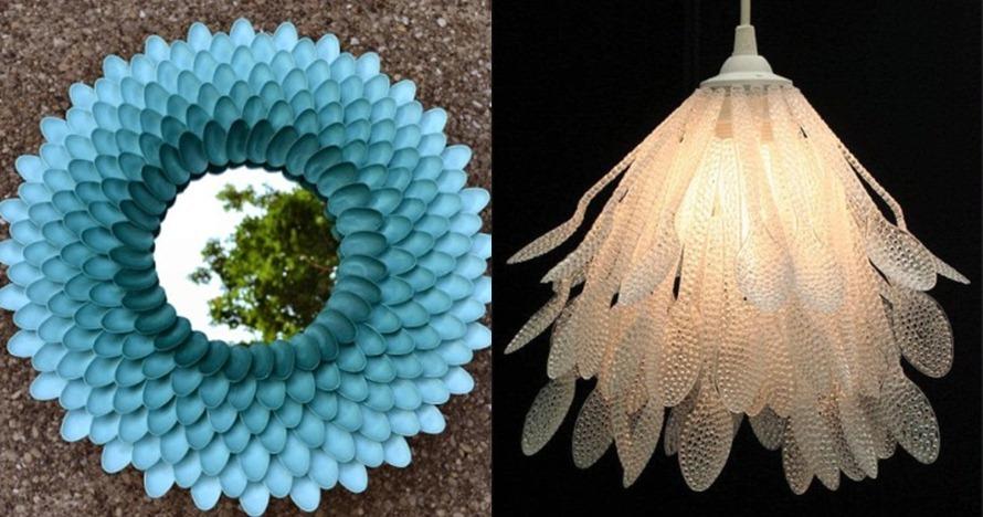 7 Kreasi furnitur dari sendok plastik, bukti kreativitas tanpa batas