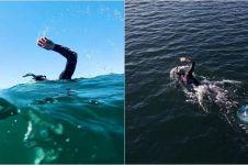 10 Aksi perenang Ben Lecomte seberangi Samudera Pasifik sejauh 8000 km