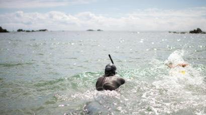 mengarungi samudra pasifik  ©Instagram @benlecomtetheswim dan Facebook Ben Lecomte The Swim
