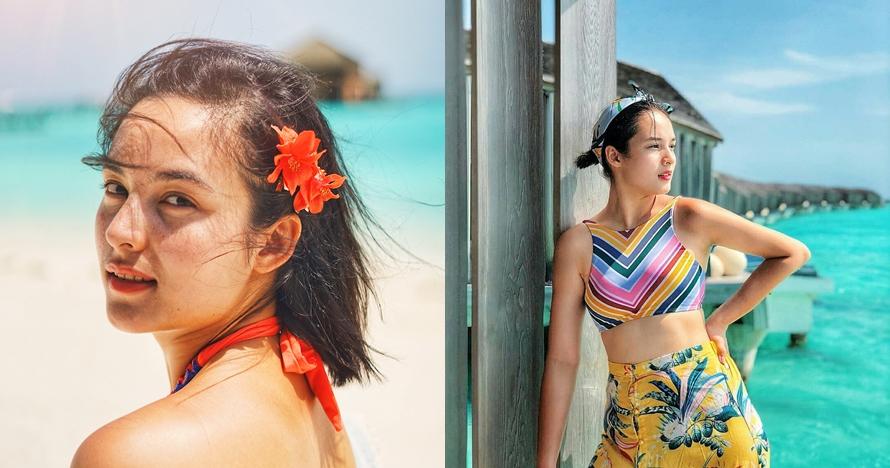 Tanpa tampil seksi, begini 10 potret Chelsea Islan liburan di Maldives