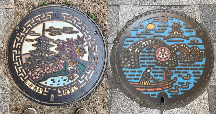 10 Karya seni dari tutup gorong-gorong air di Jepang, detailnya top
