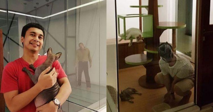 Kocak nan imut, ini 9 momen Raditya Dika main dengan kucingnya