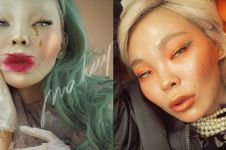10 Potret Aryuna Tardis, selebgram yang gemar pakai makeup ekstrem
