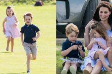 10 Momen seru George & Charlotte menemani Pangeran William main polo