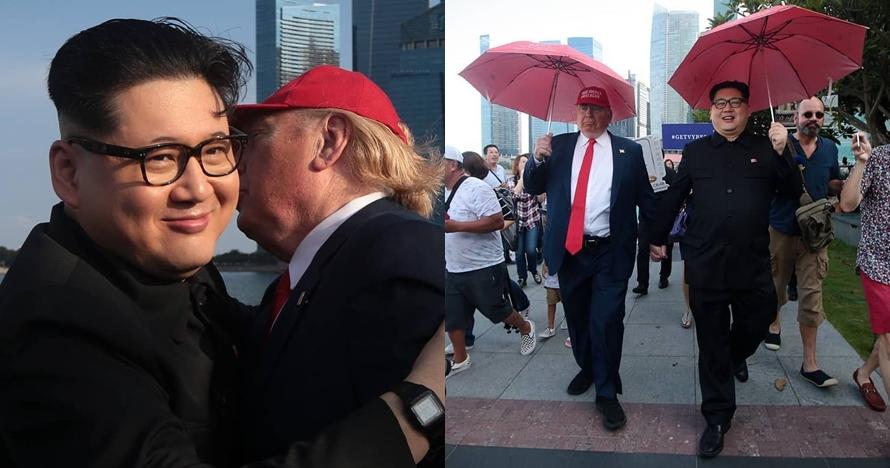 10 Momen 'kembaran' Trump & Kim Jong Un bikin heboh di Singapura