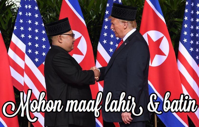 8 Meme 'Trump bertemu Kim Jong Un' ini bikin senyummu makin lebar