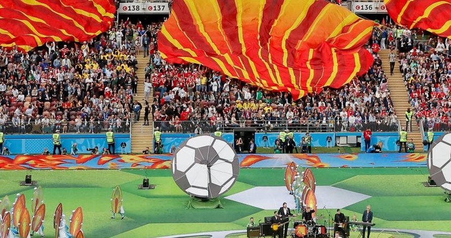 5 Potret atraksi menarik opening ceremony Piala Dunia Rusia