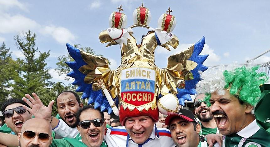 6 Potret keseruan suporter Piala Dunia di Rusia