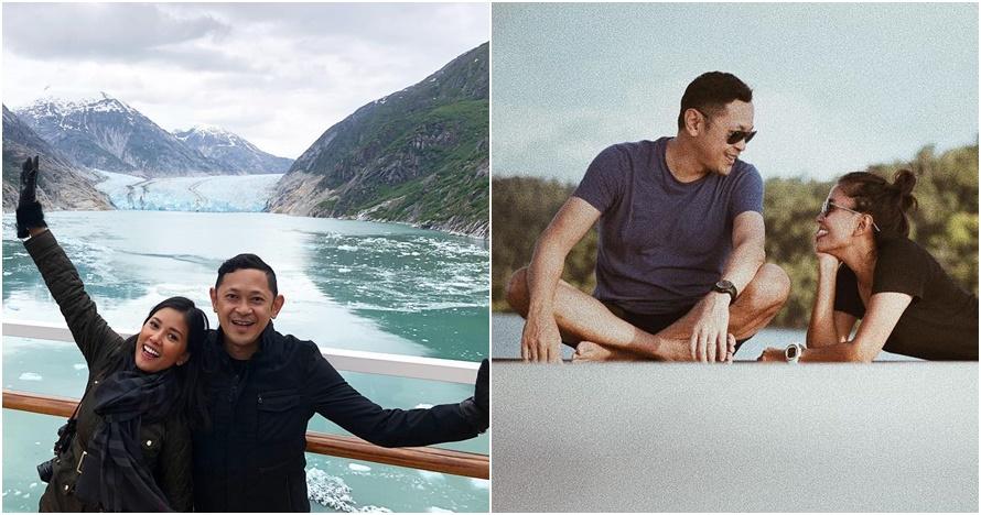 10 Potret Titi Rajo Bintang & suami saat liburan, nikah rasa pacaran