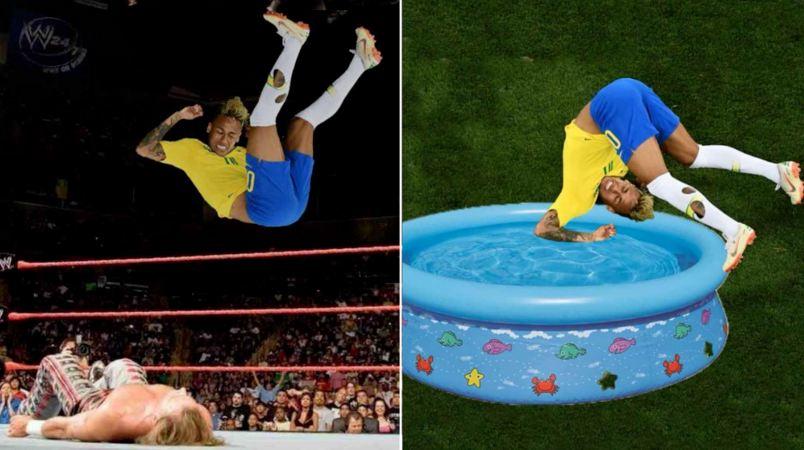 Dianggap suka diving, ini 7 meme kocak Neymar saat lawan Swiss