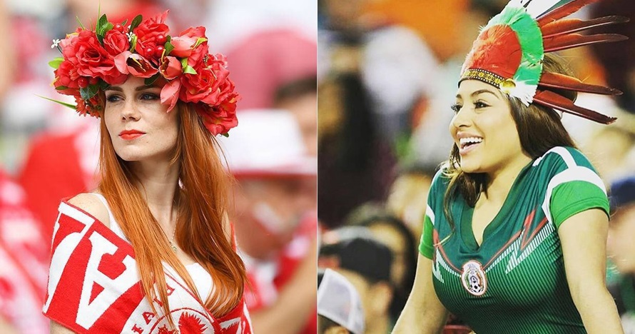 Begini gaya suporter cantik 10 negara peserta Piala Dunia, seksi abis