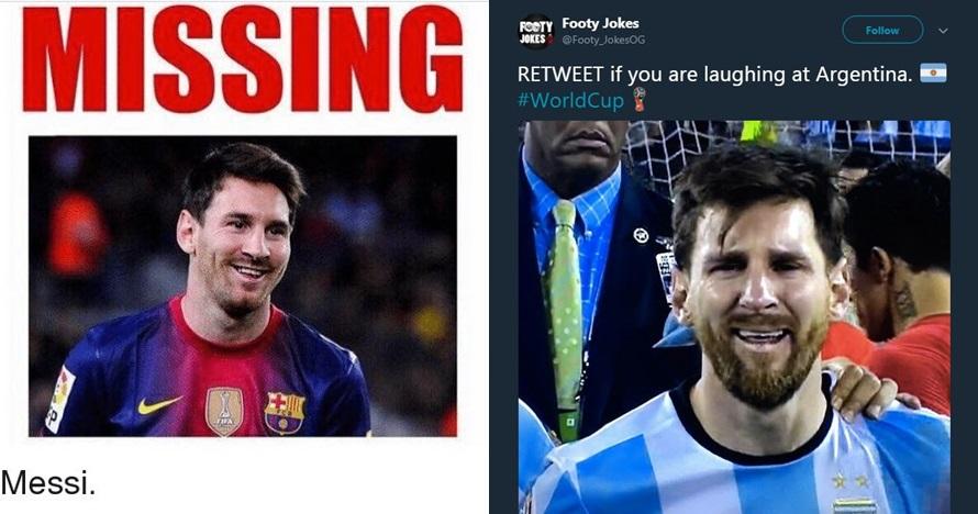 Argentina dibantai Kroasia, ini 10 meme Lionel Messi yang kocak abis
