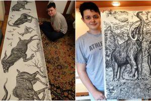 Bertalenta hebat, 10 karya lukis bocah ini detailnya luar biasa keren