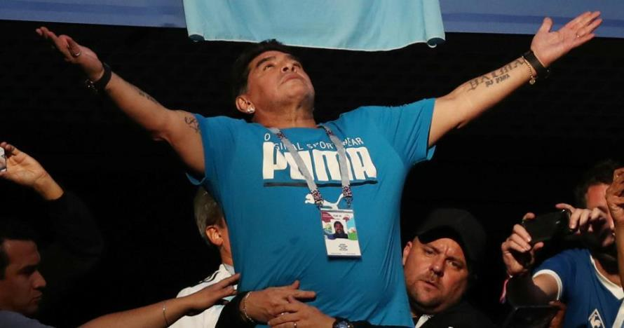 Acungkan aksi jari tengah, ternyata ini sasaran Maradona