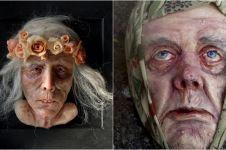 10 Karya pahat wajah manusia ini tak biasa, malah bikin bergidik ngeri