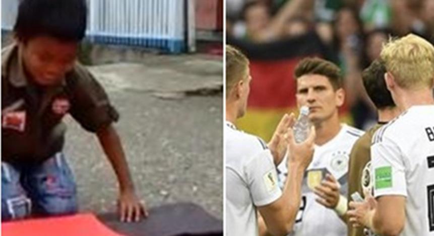 Video bocah lipat bendera Jerman ini dishare belasan ribu, bikin sedih