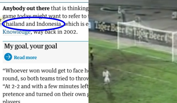 Jelang vs Belgia, media Inggris ungkit duel Indonesia vs Thailand 1998