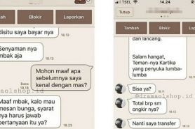 Chat 'modus' pembeli ke penjual online ini endingnya bikin ngakak