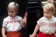 6 Bukti George pakai baju yang sama saat Pangeran William kecil