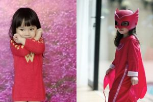 5 Potret lucunya Gempita pakai kostum superhero, gayanya nggemesin pol